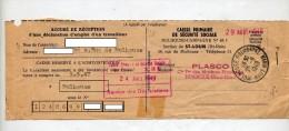 Accuse Reception Securite Sociale Cachet Mulhouse - Marcophilie (Lettres)