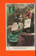 Machine à écrire -  Publicité - Fantaisie - Enfant Série N°655 AS (pli) - Cartes Postales