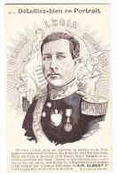 cpa S. M. ALBERT 1er roi belgique d�taillez bien ce portrait n�4 Gloir Legia Honneur dessin Gilbert gautier