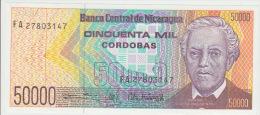 Nicaragua 50000 Cordobas 1989 Pick 161 UNC - Nicaragua