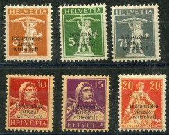 Suisse Timbre De Service (1918) N 1 à 6 * (charniere) - Service