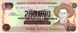 Nicaragua 200000 Cordobas 1985 Pick 162 UNC - Nicaragua