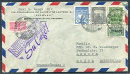Colombia Airmail Nestle Milk Cfe Coffee Milo Brief - Lucerne Switzerland - Colombia