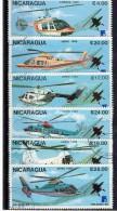NICARAGUA  1988  ELICOTTERI CIVILI Usato / Used - Elicotteri