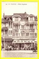 * De Panne - La Panne (Kust - Littoral) * (nr. 142) Hotel Englebert, Patisserie, Carte Privée, TOP CPA, Rare, Glacier - De Panne