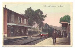 CPA 42 Sail Sous Couzan La Gare Et Le Train - Autres Communes