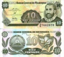 Nicaragua 10 Centavos De Cordobas 1991 Pick 169 UNC - Nicaragua