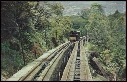 MALAYA. PENANG HILL RAILWAY, TRAIN. 1950's Unused Postcard - Malaysia