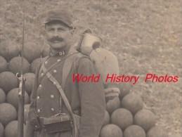 CPA Photo - Poilu Du 51e Régiment - Voir Fusil à Baïonnette , équipement , Gamelle - Voir Uniforme - War 1914-18