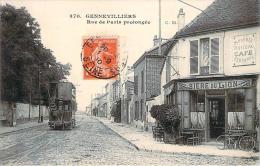 92 - Gennevilliers - Rue De Paris Prolongée (tramway) (café Terminus Modeste Doiteau) - Gennevilliers