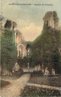 77 - Montigny-Lencoup - Ruines De Preuilly (colorisée) (tampon 19e Escadron Du Train, Boulangerie De Campagne N°22) - Autres Communes