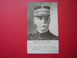 CPA GENERAL GALLIENI    PROCLAMATION DU 3 SEPTEMBRE 1914   NON  VOYAGEE - Oorlog 1914-18