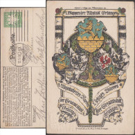 Bavière 1906. Entier Postal TSC. Armoiries De Alstadt Erlangen, évolution. Raisins, Roses, Aigles, Lions - Enveloppes