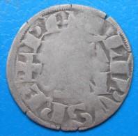 Philippe II Auguste 1180-1223 , Denier Parisis MONTREUIL-SUR-MER Duplessy 170 , ASSEZ RARE - 1180-1223 Philippe II Auguste