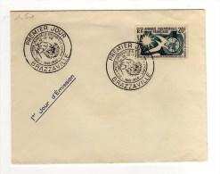 FDC - DROITS DE L'HOMME - 10/02/1958 - A.E.F. (1936-1958)