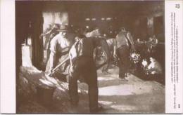 Salon 1910 - Jules ADLER - Les Enfourneurs (Intérieur D´une Fabrique Mécanique De Bouteilles) - Peintures & Tableaux