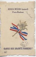 MILITARIA  -  Gloire Aux Soldats Français - EDEILWEISS - Porte Bonheur - Zonder Classificatie