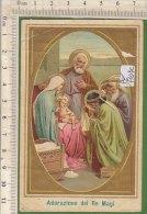 PO7109C# SANTINO SANTA FAMIGLIA - ADORAZIONE DEI RE MAGI A GESU' BAMBINO - Imágenes Religiosas