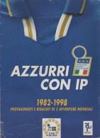 ALBUM AZZURRI CON IP- 1982/98-COMPLETO DI FIGURINE - Libri