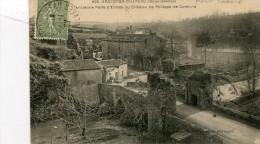 cpa 79 Argenton Chateau  Anci�nne porte d'entr�e du chateau Incendi� pendant les guerres de vend�e