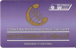AND-123 TARJETA DE ANDORRA CONCURS DE CANT - Andorra