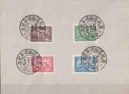 Chijna Republik Mi. 771-74 Jeweils Mit Sonderstempel Auf A5 Papier, Nationalvesammlung Nanking 1946 - 1912-1949 Repubblica