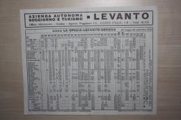 ORARIO FERROVIARIO DELLA LINEA  GENOVA LEVANTO LA SPEZIA VALIDO DAL 31 MAGGIO AL 26 SETTEMBRE 1970 - Altri