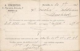 France Postal Stationery Ganzsache Entier Sage Print Privé A. VINCENTIUS, MARSEILLE 1882 To BUCHHOLZ Germany (2 Scans) - Ganzsachen