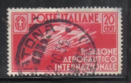 3RG705 - REGNO 1935 , 20 Cent N. 384  . Aereonautico - Gebraucht