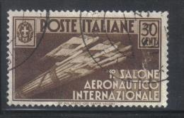 3RG710 - REGNO 1935 , 30 Cent N. 385  . Aereonautico - Gebraucht