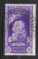 3RG712 - REGNO 1935 , 50 Cent N. 386  . Aereonautico - Gebraucht