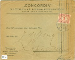 BRIEFOMSLAG * Uit 1911 Concordia Amsterdam  Naar LOPPERSUM * NVPH NR. 51 (8870) - Periode 1891-1948 (Wilhelmina)