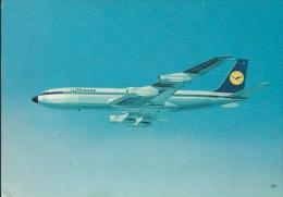 BOEING 707  INTERCONTINENTAL  JET  LUFTHANSA- SCRITTA  DIETRO - 1946-....: Moderne
