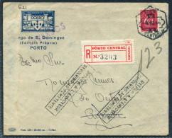 1944 Portugal Porto Registered Cover - Gueda RETOUR Return To Sender - 1910-... République