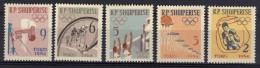 Albanie Yvertnrs: 626/30 Postfris - Summer 1964: Tokyo