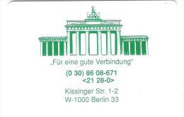 Germany - K116  07/92 PSD Bank Berlin - Brandenburger Tor - Mint - Allemagne