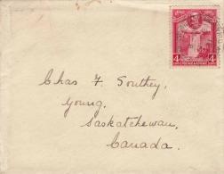 Brief BRITISCH GUINEA 1931 - 4 Cent Marke Auf Brief Gel.n. Canada - Britisch-Guayana (...-1966)