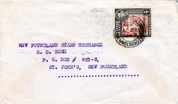 Brief BRITISCH GUINEA 1944 - 4 Cent Marke Auf Brief Gel.n. New Foundland - Britisch-Guayana (...-1966)