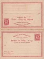 Pk NORWEGEN 1897? - 2 X 10 Öre Ganzsache Auf Doppel Postkarte - Briefe U. Dokumente
