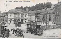 SEDAN - Hôtel De Ville Et Place Turenne - Tramways - Sedan