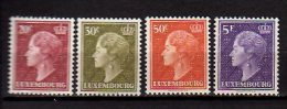 1958 Luxembourg - Herz. Chrlotte - Set Of4 V Paper - Mi 586/589 - MNH** KW 13 Mie - Luxemburg