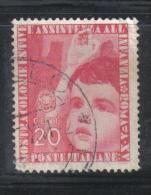 3RG761 - REGNO 1937 ,  20 Cent N. 407  . Colonie Estive - Gebraucht