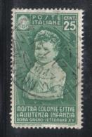 3RG762 - REGNO 1937 ,  25 Cent N. 408  . Colonie Estive - Gebraucht