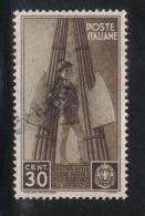 3RG768 - REGNO 1937 ,  30 Cent N. 409  . Colonie Estive - 1900-44 Vittorio Emanuele III