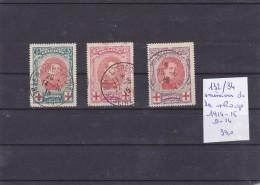 LOT DE TIMBRES DE BELGIQUENEUF/O /EN L ETAT Nr132/34 OBL   EMISSIONS DE LA + ROUGE 19314-15 COTE 33 € - Belgique