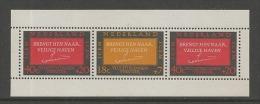 NEDERLAND, 1966, Mint Never Hinged Stamp(s) Block Nr. 4, Refugees, NVPH Nr. 858  #6837 - Blocks & Sheetlets