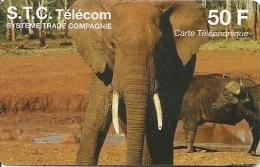 CARTE-PREPAYEE-50F-STC-TE LECOM-ELEPHANT-UTI L I S E-TBE - Autres Prépayées