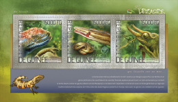 gu14224a Guinea 2014 Lizards s/s