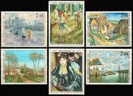 MONACO  967 à 972  CENTENAIRE DE LA FONDATION DU GROUPE DES IMPRESSIONISTES  1974 - Impressionisme