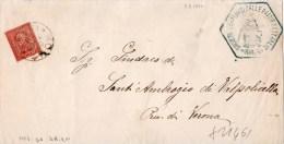PIEGO POSTALE-SOCIETA' DEI REDUCI DELLE PATRIE BATTAGLIE-REGNO-CENT.2-SERIE DE LA RUE - 1861-78 Vittorio Emanuele II